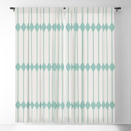 Minimal Geometric - Teal Blackout Curtain