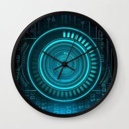 Futurist Matrix   Digital Art Wall Clock