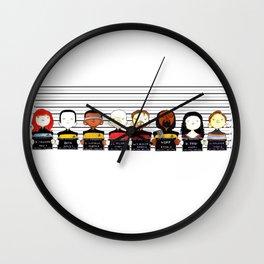ST: TNG Police Lineup Wall Clock