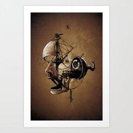 destructured pirate #Hook Art Print