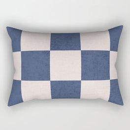 blue checks Rectangular Pillow