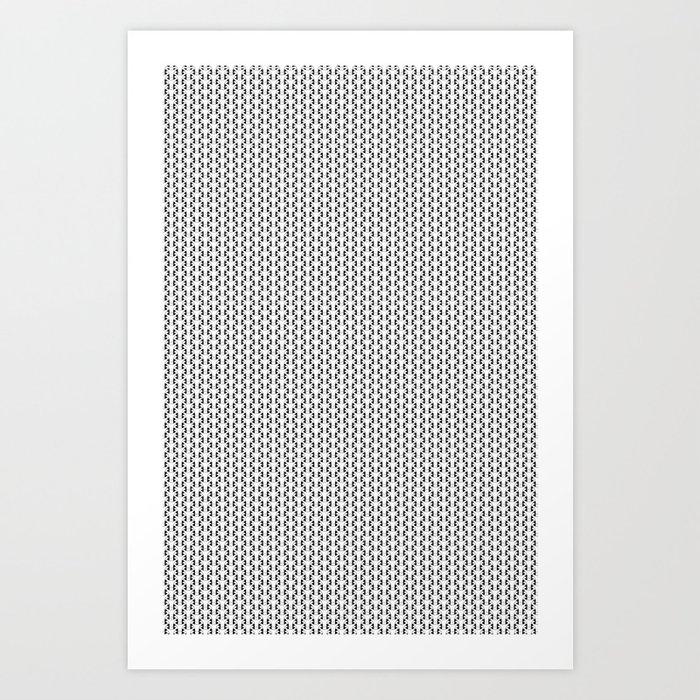 Black and White Basket Weave Shape Pattern 2 - Graphic Design Art Print