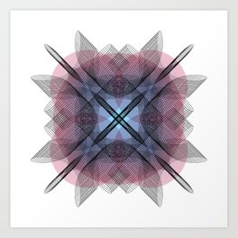Ah Um Design #013c Art Print