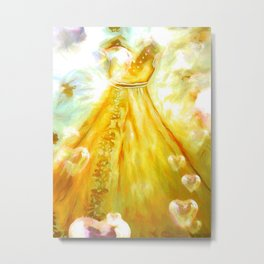 The Golden Glow Of Frienship Metal Print