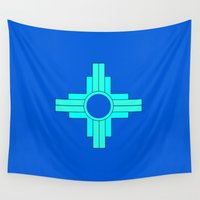 mexico Wall Tapestries featuring New Mexico  by Isabella Ruffalo