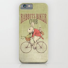 Rabbits Biker Club iPhone Case