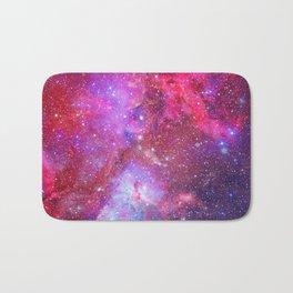 Pink Star Galaxy Bath Mat