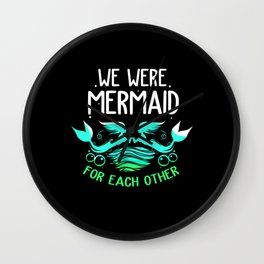 Mermaid Lesbian Made Each Other Underwater Fish Wall Clock