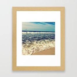 Waves At Jones Beach Framed Art Print