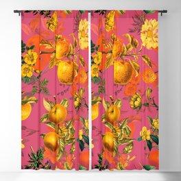 Vintage & Shabby Chic - Summer Golden Apples Pink Garden Blackout Curtain
