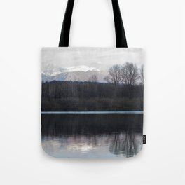 A lake in the mountains Tote Bag