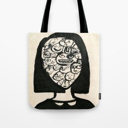 little girl is being moody Tote Bag