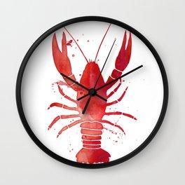 Red Lobster Wall Clock