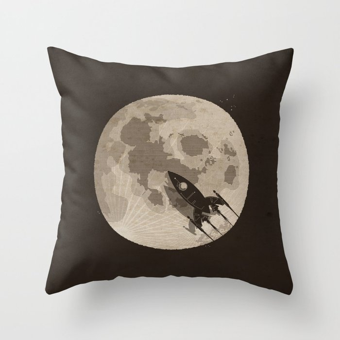 Around the Moon Deko-Kissen