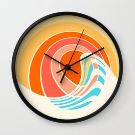 Sun Surf Wall Clock