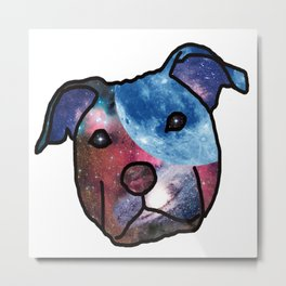 To The Moon And Back (love is a pit bull No.6) Metal Print