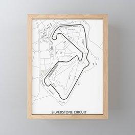 Silverstone Circuit Framed Mini Art Print