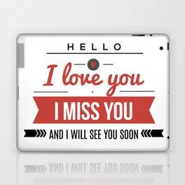 I love you lettering design Laptop & iPad Skin