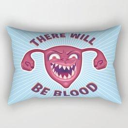 Crazed Uterus, There Will Be Blood Rectangular Pillow
