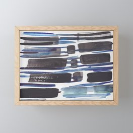 7    |  190408 Blue Abstract Watercolour Framed Mini Art Print