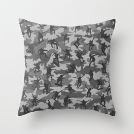 Skater Camo B&W Throw Pillow