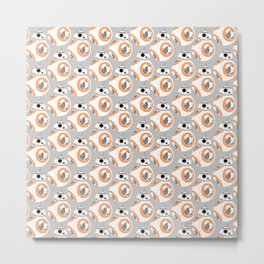 BB-8 Pattern Metal Print