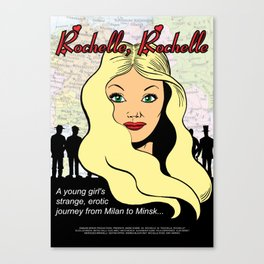 """""""Rochelle, Rochelle"""" - fictional poster for the fictional movie in Seinfeld Canvas Print"""
