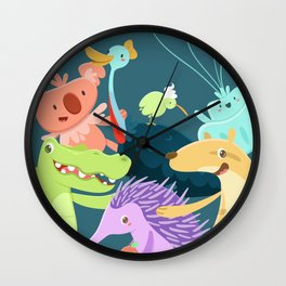 Aussie Friends Wall Clock