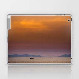 Yacht sailing towards Catalina Island Laptop & iPad Skin