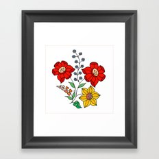 Hungarian placement print - white Framed Art Print