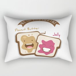 Peanut butter and jelly T-shirt, Cute unusual National Best Friends Day gift Rectangular Pillow