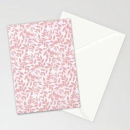 Vintage grunge blush pink white bohemian floral Stationery Cards