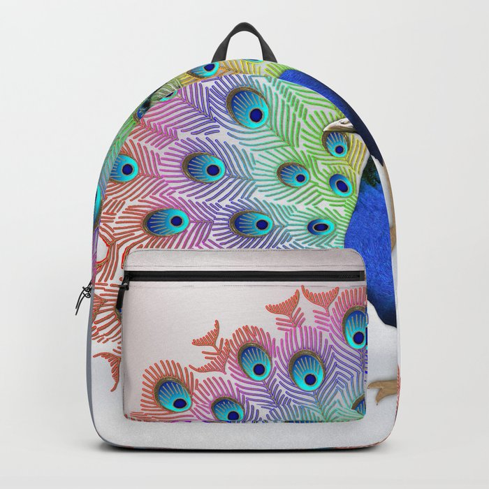 Colorful Peacock Backpack