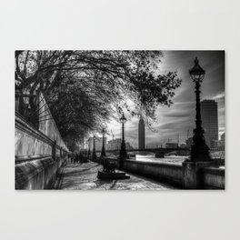 River Thames Path Canvas Print