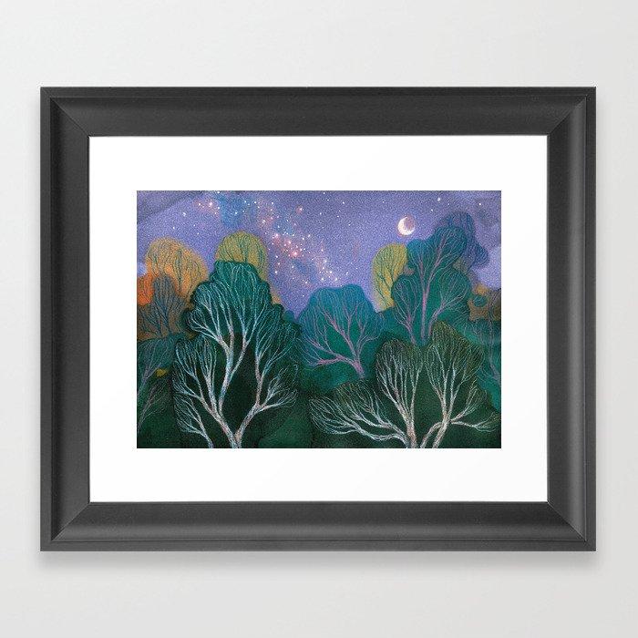 Starlit Woods Gerahmter Kunstdruck