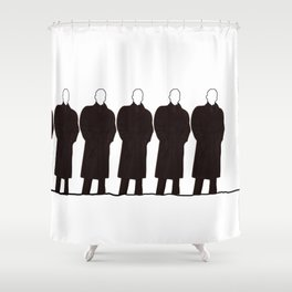 Men in a row Shower Curtain