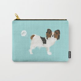 papillon farting dog cute funny dog gifts pure breed dogs Carry-All Pouch