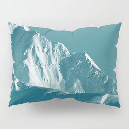 Alaskan Mts. I, Bathed in Teal Pillow Sham