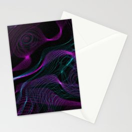 Neon Spins Stationery Cards