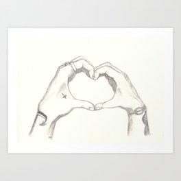 Love, Harry and Louis Art Print