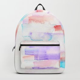 170527 Back to Basic Pastel Watercolour 23  |Modern Watercolor Art | Abstract Watercolors Backpack