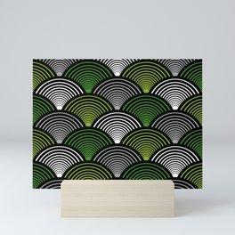 Art Deco Fans Green Mini Art Print