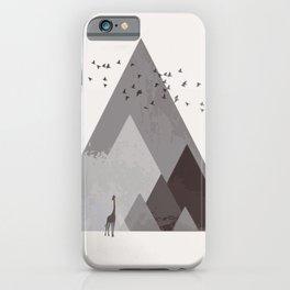 Rocky mountain geometric landscape iPhone Case