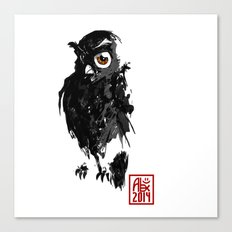 Hibou / Owl Canvas Print