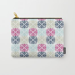 Floral Geometric - Navy & Pink Carry-All Pouch
