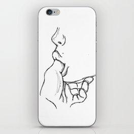 Lick my finger iPhone Skin