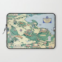 WELLESLEY College map MASSACHUSETTS dorm decor graduate Laptop Sleeve
