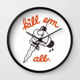 Kill Em All Wall Clock