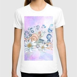 Snail and waterlily, T-shirt