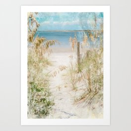 Beach Please Art Print